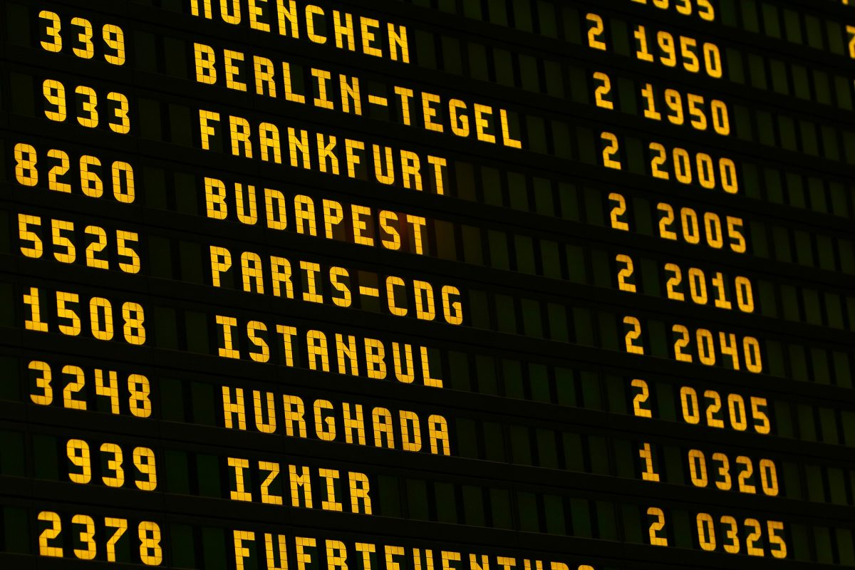 Airport Arrivals Board Global Entry