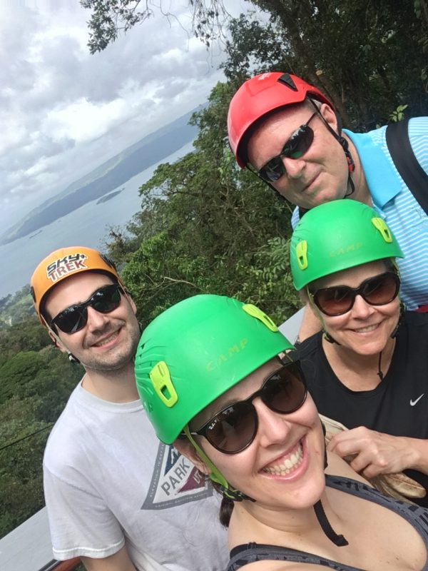 Family Zip Lining in Costa Rica
